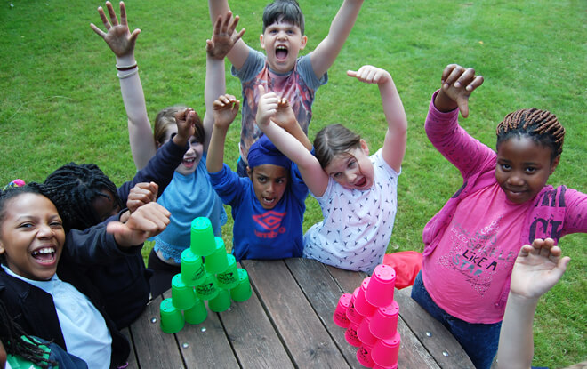 learning-outside-the-classroom-cup-stacking
